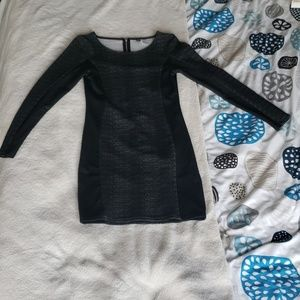 H&M Long Sleeve Black Sweater Dress